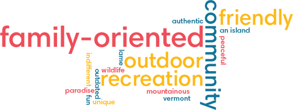 Word cloud from survey.